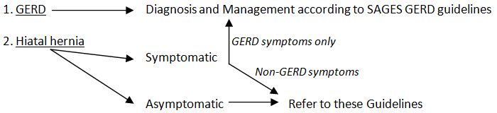 Diagnostic pathway for GERD and for hiatal hernia