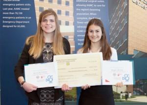 AAMC Internship Awards Certificate & Check Megan Rukai and Miranda Forbes