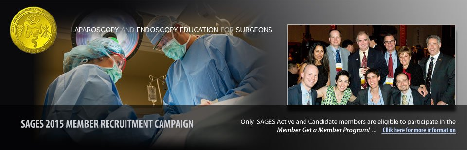Introducing SAGES 2015 Member Recruitment Campaign