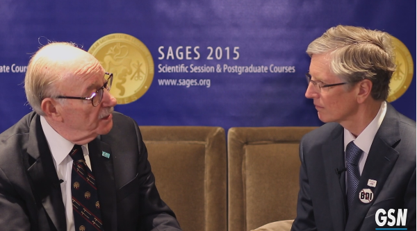 Michael Brunt and Rick Greene GenSurgNews Interview SAGES 2015