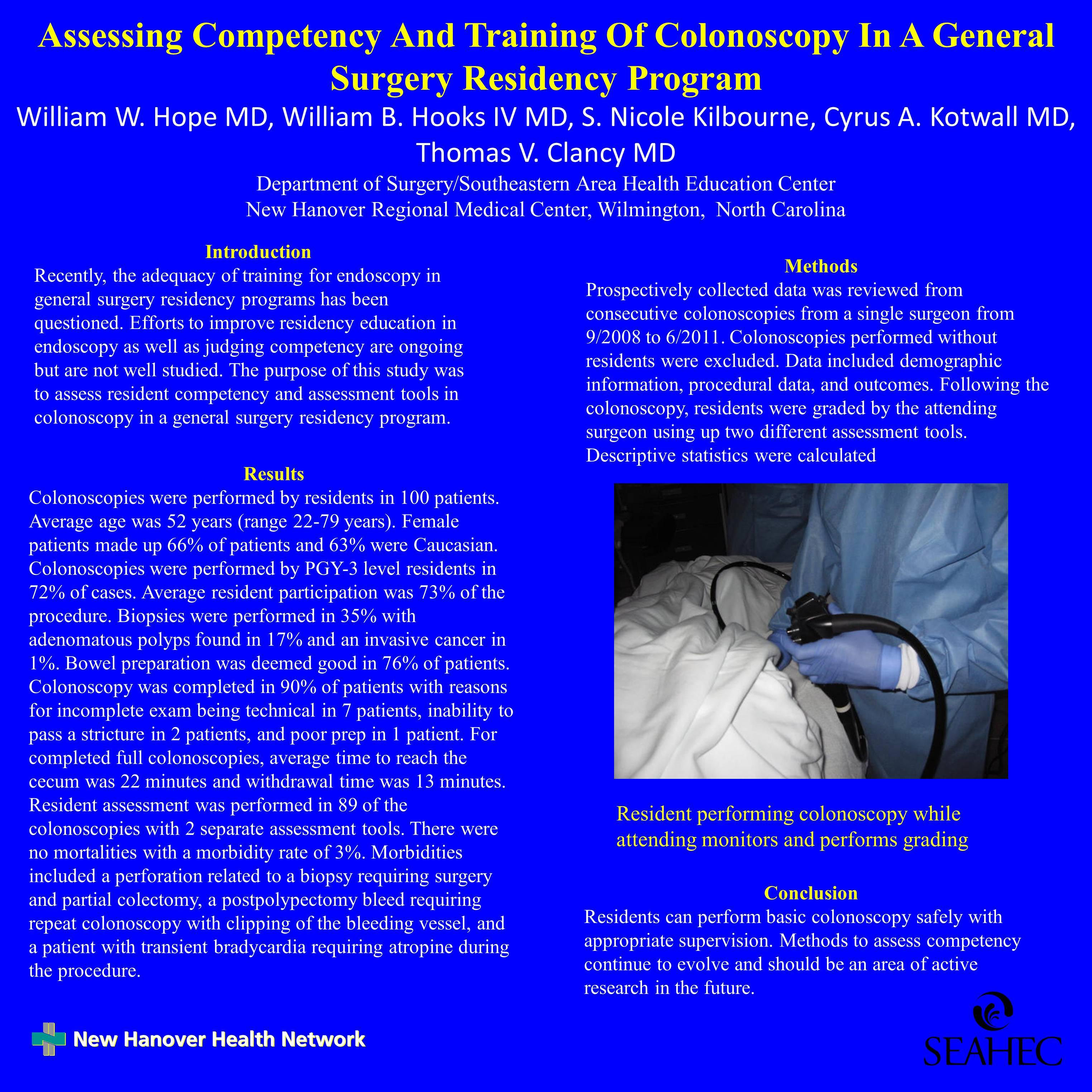 Assessing Competency and Training of Colonoscopy in a