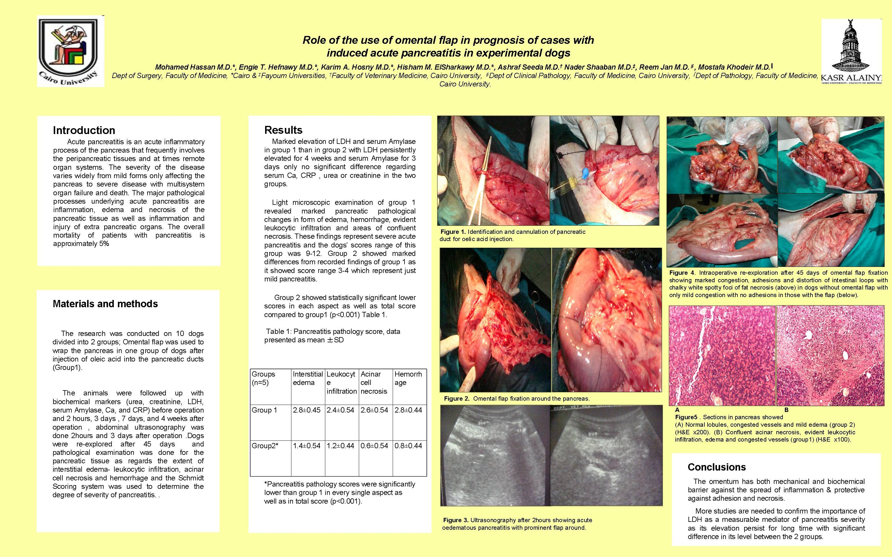 eposter template - role of the use of omental flap in prognosis of cases with