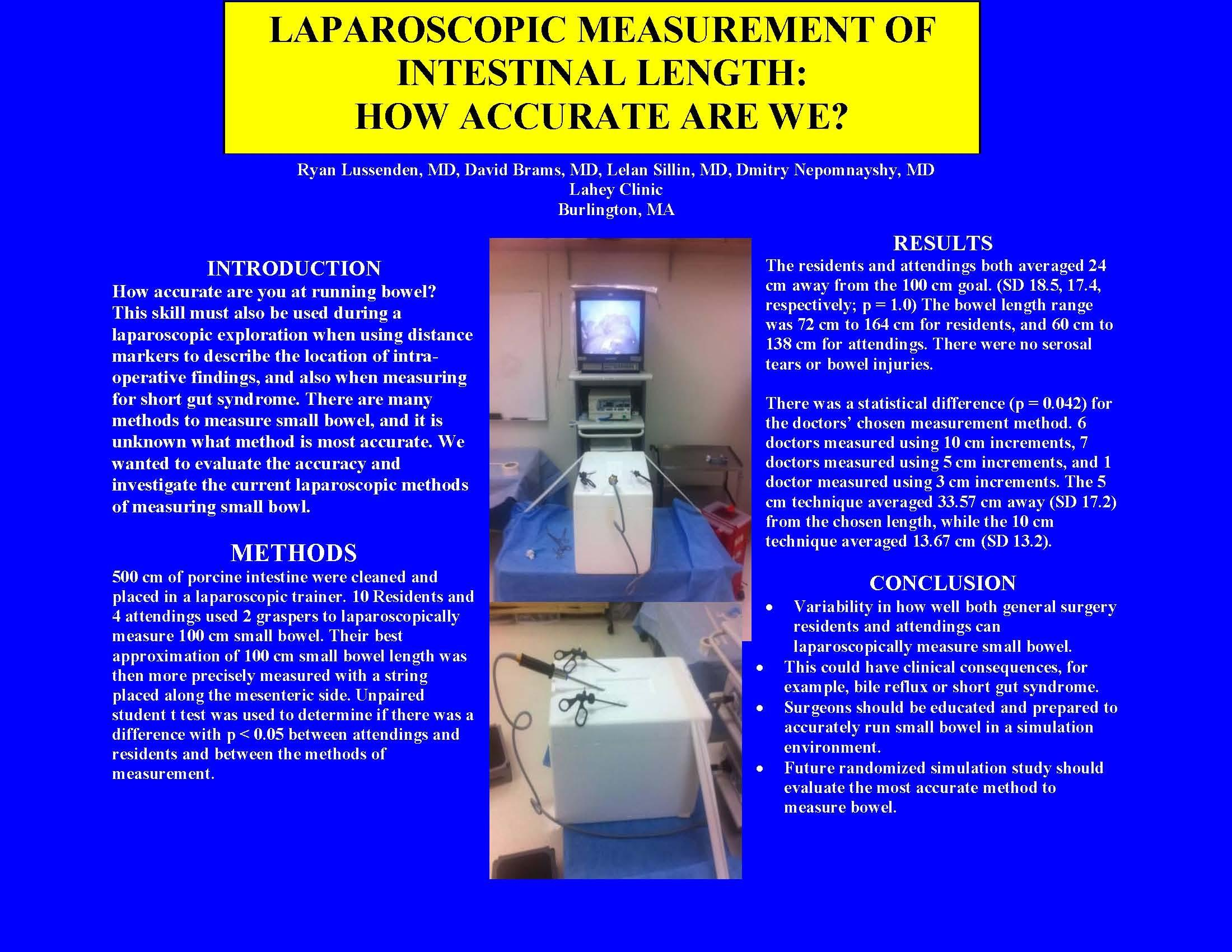 Laparoscopic Measurement Of Intestinal Length How Accurate Are We