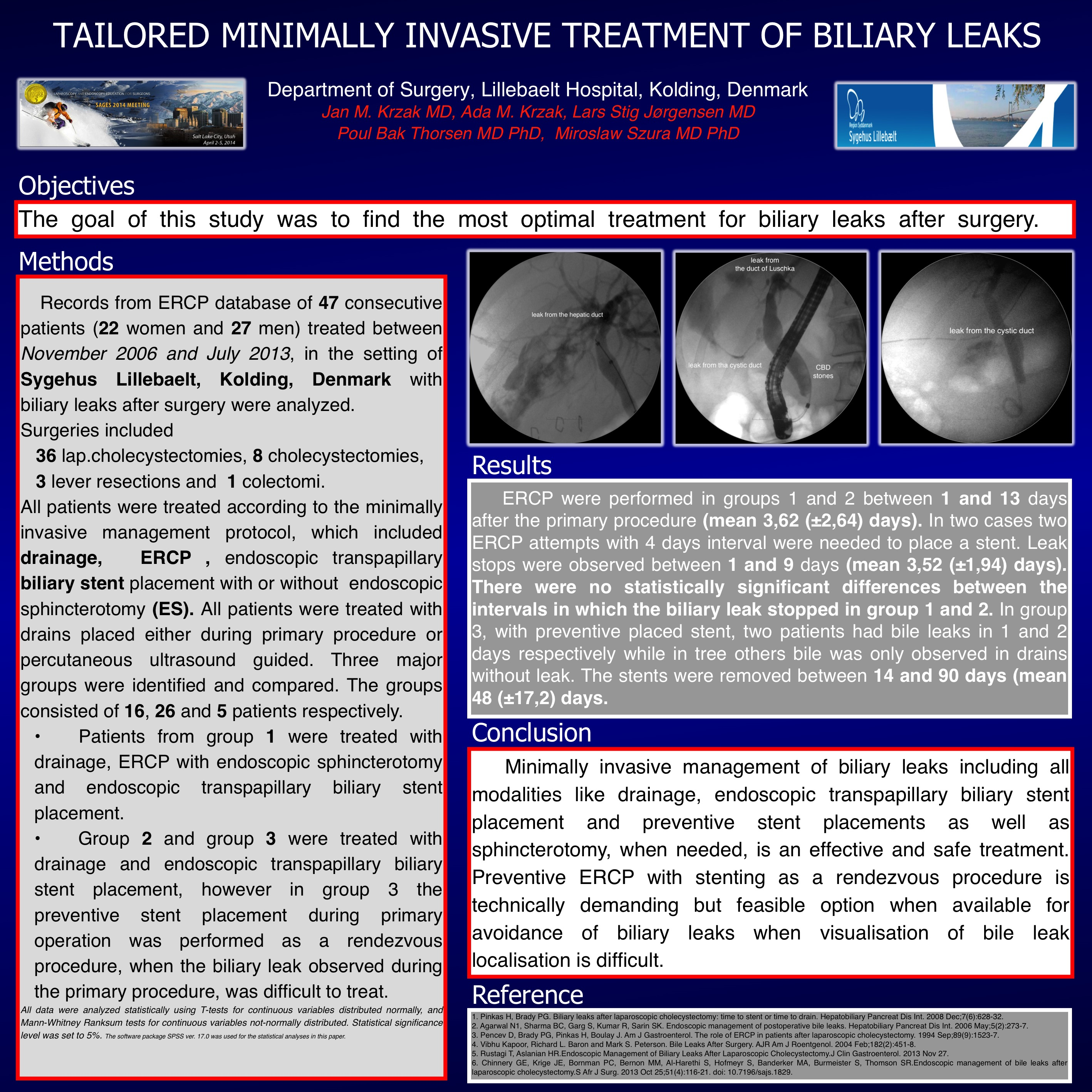 Tailored Minimally Invasive Treatment Of Biliary Leaks